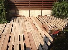 terrasse aus europaletten bauanleitung zum selberbauen