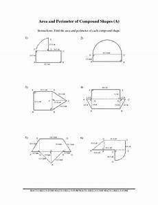 measurement worksheet area and perimeter of compound shapes shapes worksheets area