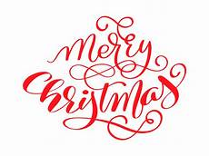 merry christmas vector calligraphic lettering text for design greeting cards holiday