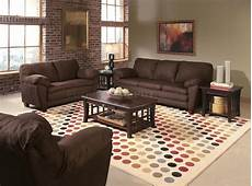 brown suede contemporary living room w wooden