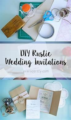 my diy rustic wedding invitations ever so britty