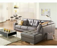 Artem Sofa 902511 Rs Grey Leather Sectional Need Lhf