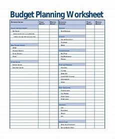 printable budget worksheet sle 12 exles in word excel pdf