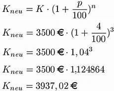 zinseszins berechnen formel beispiele und erkl 228 rung