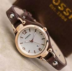 Jam Tangan Murah Wanita Fossil jual jam tangan wanita cewek murah fossil anantia leather
