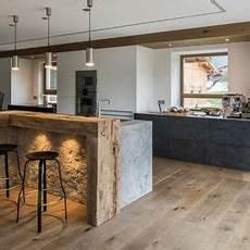 küche rustikal modern blick vom essbereich in die offene k 252 che k 252 che