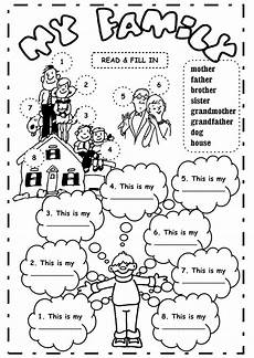 family worksheets free 18612 my family the family exercise