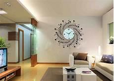 home decor wall clock modern design diamond quartz iron