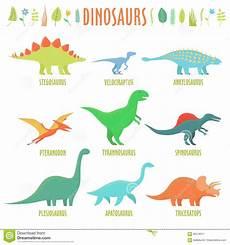 dinosaurs types stock illustration illustration of lava