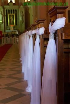 dekoracje ławek na ślub dekoracje kościoł 243 w pinterest