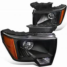 99 F150 Wiring Exterior Light by 09 14 Ford F150 Retrofit Style Projector Headlights Black