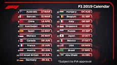 Formula 1 On Quot 2019 Draft F1 Calendar 21 Races
