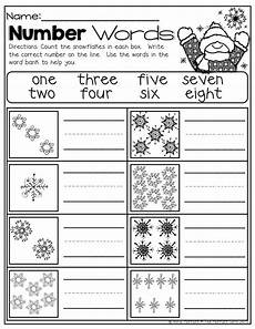 number spelling worksheets for kindergarten 22496 winter math and literacy packet no prep kindergarten homeschool math teaching kindergarten
