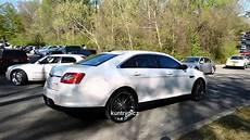 white ford taurus on velocity wheels youtube