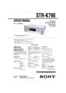 Sony Str K790 Lifier Manuals