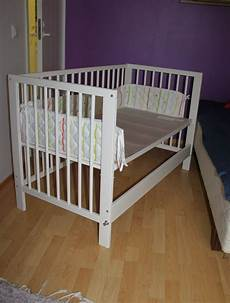 we boughta a ikea gulliver baby crib and some improvements