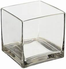 6 quot square glass vase 6 inch clear cube centerpiece