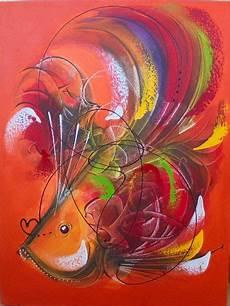 Jual Lukisan Abstrak Ikan At 67 Kab Gianyar Toko