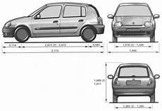 dimension clio 1 the blueprints blueprints gt cars gt renault gt renault
