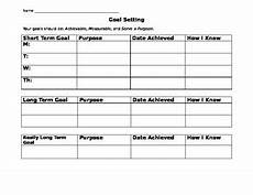term and short term goal setting worksheet promotiontablecovers