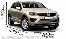 Dimensions Of Volkswagen Cars Showing Length Width And Height