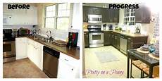 Kitchen Transformations Before And After by Juggling Act Kitchen Update With Rust Oleum Cabinet