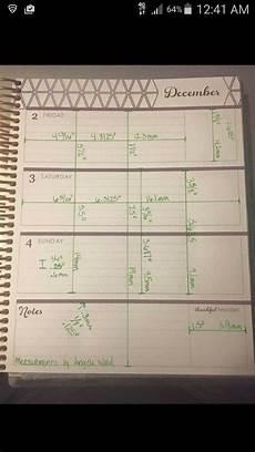 Planner Dimensions by Eclp Horizontal Measurements 2nd Set Planner Hacks