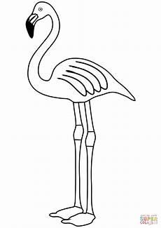 Malvorlage Flamingo Einfach Flamingo Zum Ausmalen Vorlagen Zum Ausmalen Gratis