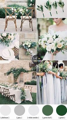 green wedding colour schemes grey platinum white smoke wedding colors spring wedding