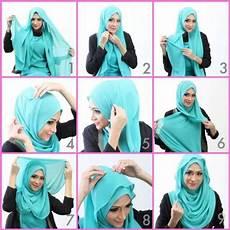 Cara Pakai Jilbab Segi Empat Modern Simple Dan Mudah