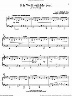 bliss it is well with my soul sheet music beginner for