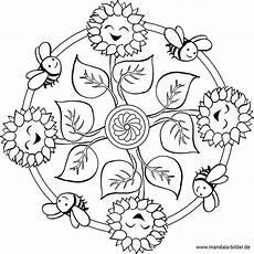 Ausmalbilder Blumen Und Bienen Gratis Mandala Blume Biene Natur