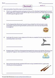 word problem decimals worksheets 11000 decimal word problems worksheets