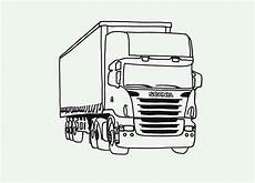 tractor trailer semi truck coloring page
