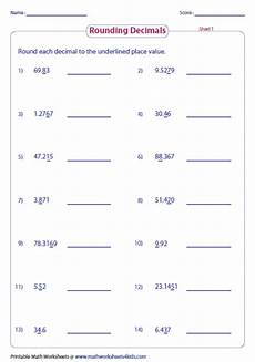 decimal place value and rounding worksheets 5649 rounding decimals worksheets