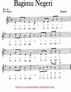 Side424 Kumpulan Partitur Lagu Wajib Nasional Notasi Dan