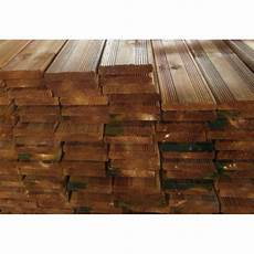 planche de terrasse brune 19 x 95mm classe 4