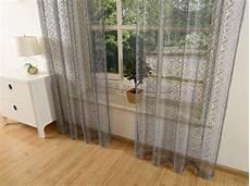 gardinen mit ösen gardine netzvorhang mit 214 sen einfarbig transparent