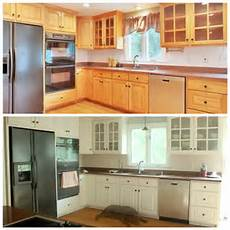 Kitchen Transformations Before And After by Awesome Before And After Diy Kitchen Cabinet Makeover
