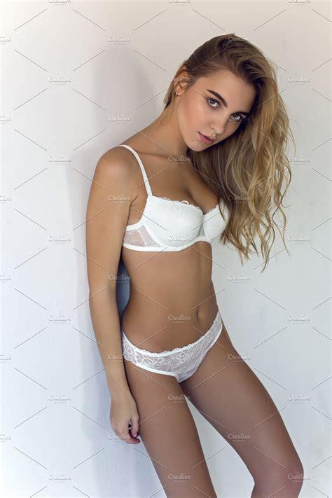 Blonde Girl In Underwear