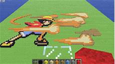 minecraft luffy attack gif by lnearmellomatt on