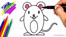 Tikus Cara Menggambar Dan Mewarnai Gambar Hewan Untuk