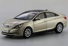 1 18 hyundai sonata gold chagne diecast car model