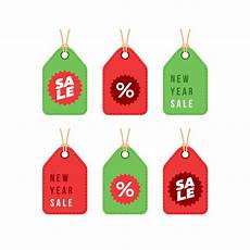 new year and merry christmas winter sale discount shopping tag premium vector