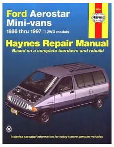 vehicle repair manual 1997 ford aerostar head up display ford aerostar minivan repair shop manual 1986 1997 haynes