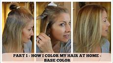 Color My Hair At Home part 1 home hair color how i color the base