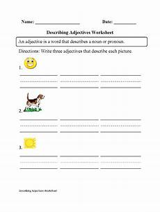 regular adjectives worksheets describing adjectives worksheet