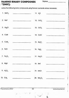 30 naming binary ionic compounds worksheet education template