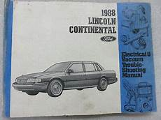 hayes auto repair manual 1988 lincoln continental free book repair manuals 1988 lincoln continental electrical wiring diagrams service manual oem factory ebay