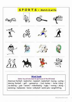vocabulary matching worksheet sports worksheet free esl printable worksheets made by teachers